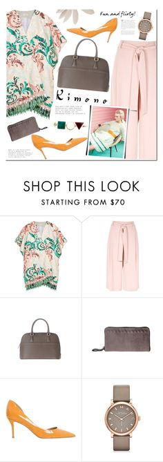 """Kimonos"" by mada-malureanu ❤ liked on Polyvore featuring Delpozo, River Island, Lovisa, Salvatore Ferragamo, Marc by Marc Jacobs, Eshvi, kimonos, Dudu, dudubags and dollaro"