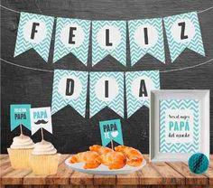 Dia Del Padre Kit Imprimible Desayuno / Merienda - $ 199,00 en Mercado Libre Diy Birthday, Birthday Gifts, Diy And Crafts, Arts And Crafts, Father's Day Diy, Dad Day, Ideas Para Fiestas, Tutti Frutti, Happy Fathers Day