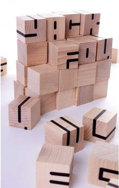 Wooden toy http://www.yackfou.com/misc/objekte/forst-typo.html