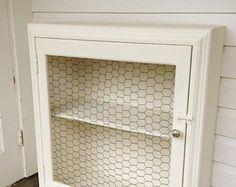 chalk+painted+hanging+shelves | ... Cupboard Shelf, White Chalk Paint Rustic Shabby Cottage Chic Shelf