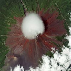 Satellite image of Mt. Fuji Japan