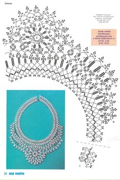 I either need to learn to read Russian or get better glasses. Beaded Necklace Patterns, Seed Bead Patterns, Tatting Patterns, Beading Patterns, Lace Necklace, Needle Tatting, Tatting Lace, Jewelry Making Tutorials, Beading Tutorials