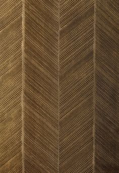 Chevron Texture in Burnished bronze wallpaper by F.Shumacher & Co
