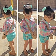 Look at this little fashionista!