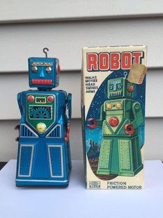 Rare 1950's Waco (Japan) Hook Robot w/ Extremely Rare Original Box C9