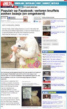 iHLN  http://www.hln.be/hln/nl/4125/Internet/article/detail/1778131/2014/01/21/Populair-op-Facebook-verloren-knuffels-zoeken-baasje-en-omgekeerd.dhtml