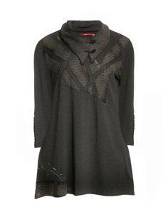Baumwollshirt mit abnehmbarem Kragen in Grau / Schwarz designed von Peter Luft in der Kategorie Shirts bei navabi.de