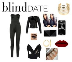 """blind date"" by leelee-the ❤ liked on Polyvore featuring Antonio Berardi, Michael Antonio, Temperley London, UN United Nude, WithChic, Ross-Simons, women's clothing, women, female and woman"