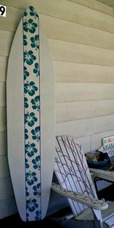 Surfboard Wall Art 6 foot wood hawaiian surfboard wall art decor or headboard kids