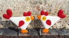 Glass Easter chicks