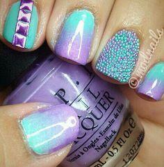 Purple & aqua opi