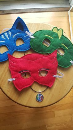 Check out this item in my Etsy shop https://www.etsy.com/listing/278755444/pj-masks-mask-necklace-set-for-boys-or