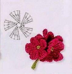 Ivelise Feito à Mão: Lindas Flores Em Crochê