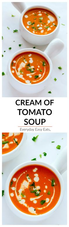 This rich, smooth Cream of Tomato Soup packs tons of flavor in each spoonful. Serve on its own or with a sandwich or salad for a satisfying meal.