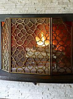 Lexington Single-Panel Fireplace Screen:   интерьер   Pinterest ...