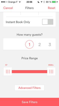 Airbnb new application iOS.