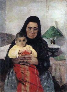 Nanny with Child - (Igor Emmanuilovich Grabar)