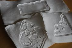 """Mon Scrapbook: La technique du """"Paper Casting""""Paper Casting Technic"""