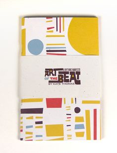 Art of the Beat Booklet - Using organic type with organic shapes, Love how the words all fit together so well