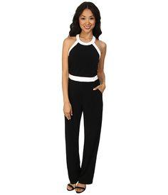 Calvin Klein Halter Color Blocked Jumpsuits