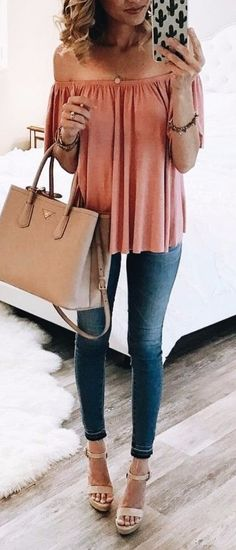 office outfit / nude heels + jeans