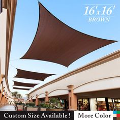 Royal Shade x Black Square Sun Shade Sail Canopy Outdoor Patio Fabric Shelter Cloth Screen Awning - UV Protection, 200 GSM, Heavy Duty, 5 Years Warranty, We Make Custom Size Aluminum Pergola, Metal Pergola, Backyard Pergola, Pergola Shade, Pergola Plans, Outdoor Pergola, Retractable Pergola, Pergola Ideas, Backyard Shade