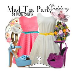 """""""Mad Tea Party"""" by lalakay on Polyvore. Dresses and shoes are adorable, but i dont like the accsessories"""