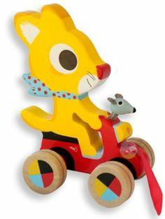 Djeco Pull Along Wood Toy Chabada