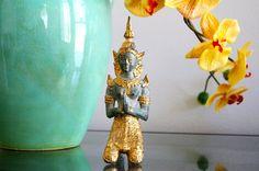 Thep Phanom Bronze & Gilt Statue Female Thai by Globalfindings