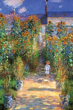 The Artists Garden at Vetheuil 20x30 poster