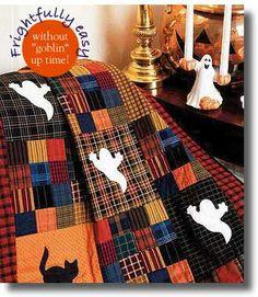 Ghoulies & Ghosties: FREE Halloween Lap Quilt Pattern