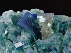 Fluorite - Rogerley Mine, Weardale, Durham Co., UK.