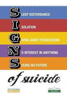 Nursing: how to tell when your patient is at risk of suicide. they don't always tell you!