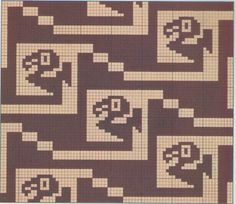 motif précolombien 002 Cross Stitch Bird, Cross Stitch Animals, Cross Stitching, Cross Stitch Embroidery, Cross Stitch Patterns, Crochet Chart, Filet Crochet, Knitting Charts, Knitting Patterns