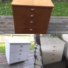 Refurbishing old draw into new and chic marble top draws.