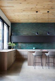 Interior Design Tips, Interior And Exterior, Kitchen Interior, Kitchen Design, Kitchen Redo, Melbourne House, White Laminate, Australian Homes, White Tiles