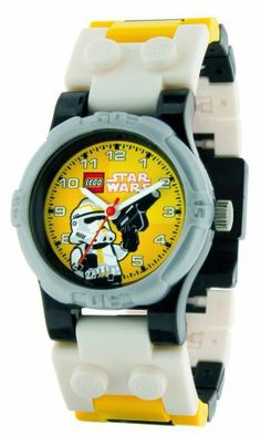 LEGO Kids' 9002922 Star Wars Storm Trooper Watch LEGO. $19.99. Water-resistant to 165 feet (50 M). Scratch resistant mineral crystal lens. Interchangeable links. Create your own style. Comes with storm trooper mini-figure