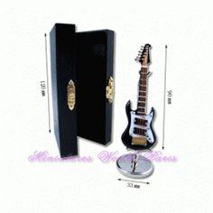 Guitare électrique de 11 cm en bois - GE11 1/12ème #maisondepoupées #dollhouse #guitare #guitar #guitareélectrique #electricguitar #instrument #musique #music #miniatures #miniature #bois #wood