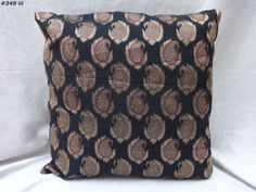 decorative cushion cover pillow cover brocade paisley black india  #349  | Home & Garden, Home Décor, Pillows | eBay!