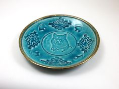 Wolf Bear and Thundercloud Bowl Handmade Ceramic Raku Pottery by DeBaunFineCeramics on Etsy