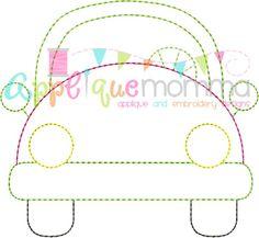 Car 2 Vintage Embroidery Design