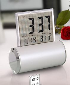 Swing clock with motion light