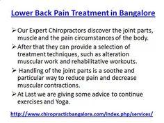 Back Pain in Bangalore, Lower Back Pain Treatment Bangalore by chiropracticbangalore