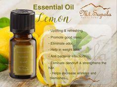 Lemon Essential Oil #mtsapola #Aromatherapy #essentialoillemon #lemonoil Lemon Oil, Bacterial Infection, Lemon Essential Oils, Dandruff, Good Sleep, Aromatherapy, Essentials, Weight Loss, Personal Care