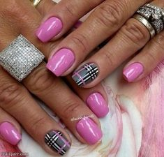 Make an original manicure for Valentine's Day - My Nails Pink Gel Nails, Fancy Nails, Love Nails, My Nails, Nail Manicure, Fabulous Nails, Gorgeous Nails, Pretty Nails, Colorful Nail Designs