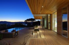 Architect David Kotzebue designed the home and John Merton of Studio Green created the outdoor spaces on the half-acre lot. Marin County CA