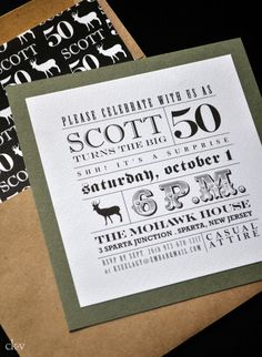 MASCULINE AND RUSTIC INVITATIONS