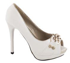 Pantofi cu platforma - Pantofi de dama cu toc H178-2A - Zibra