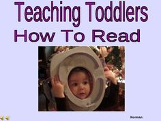 Teaching Toddlers To Read