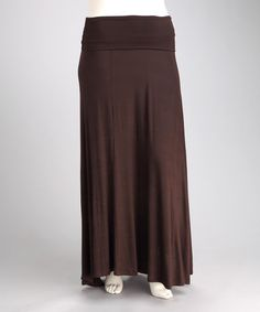 Another great find on #zulily! Brown Jahna Maxi Skirt - Plus by CANARI #zulilyfinds love <3